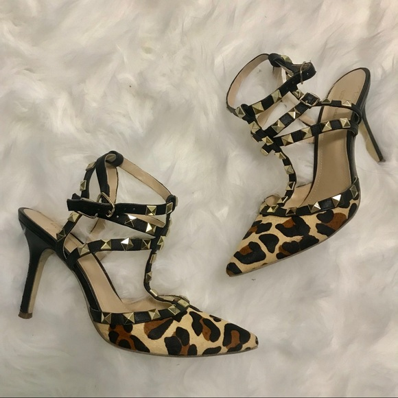 bac9604bd90e BCBGeneration Shoes | Bcbg Rockstud Leopard Print Studded Pump ...